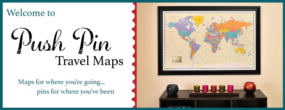 Framed and personalized world travel maps with pins i want to go framed and personalized world travel maps with pins publicscrutiny Gallery