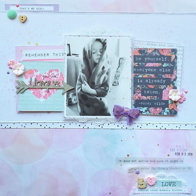 Michelle Stokes On Instagram My Last Layout Share For Dlishscraps This Month Is Up On The Blog Now I Ve Mixed Scrapbooking Layouts Cocoa Craft Inspiration