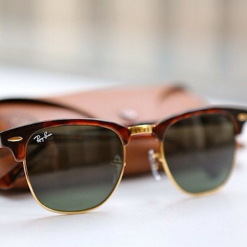 0d25a72664 Ray Ban Clubmaster sunglasses! www.visiondirect.... Ray Ban RB3016  Clubmaster Sunglasses Mock ...