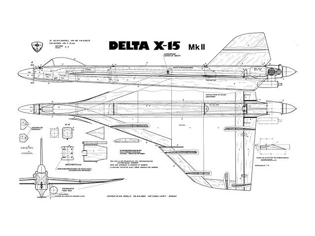 Delta X 15 Mkii Oz4370 By Wilfried Klinger From Wik Modelle Plan Thumbnail Model Aeroplanes Model Airplanes Radio Control Planes