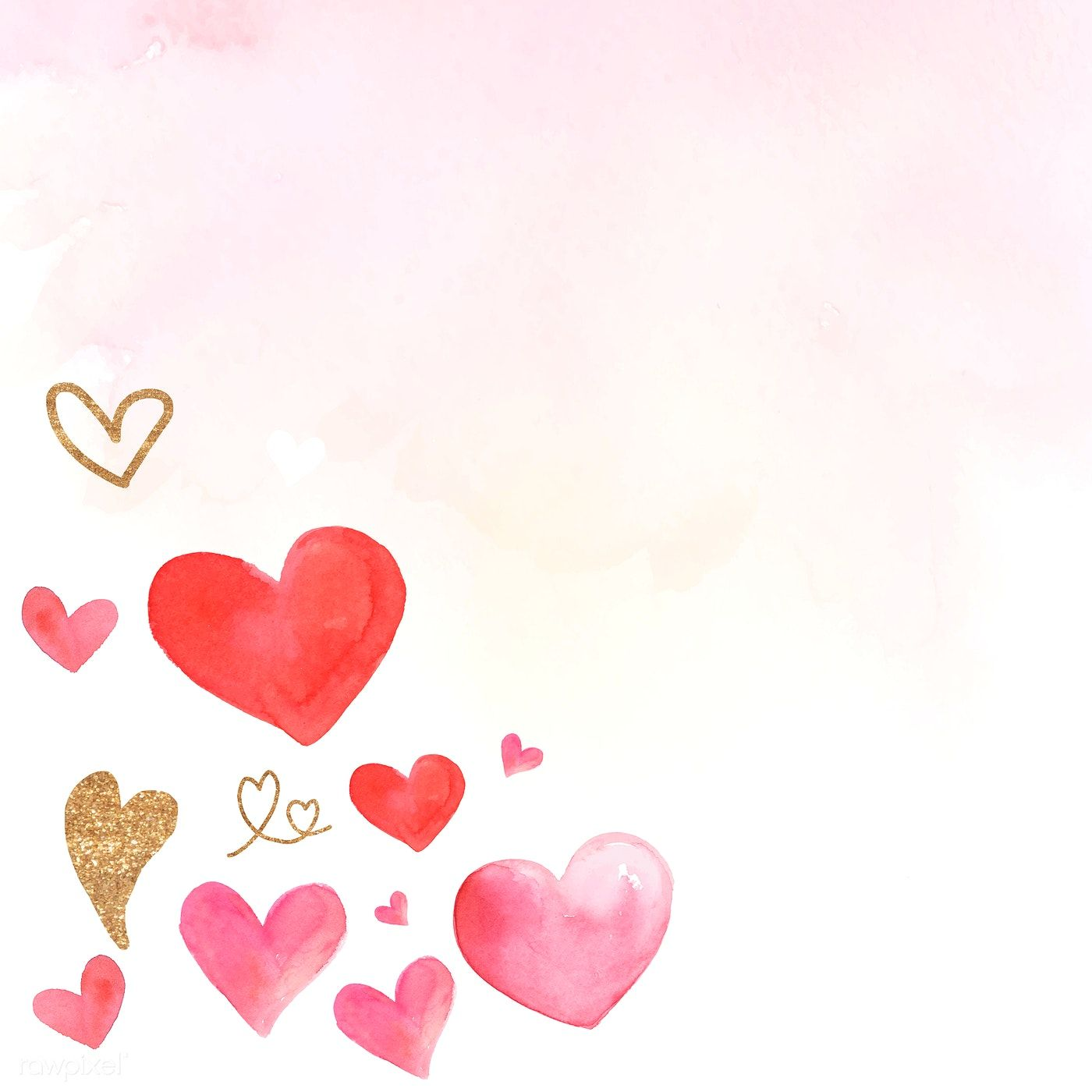 Download Premium Vector Of Valentine S Day Background Watercolor Style Valentines Day Background Watercolor Background Watercolor Illustration