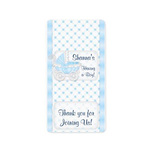 Baby Blue Shower Hersheys Miniature Candy bar wrap Address Label ...