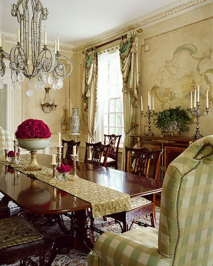 Dining Room Centerpiece And Table Runner Elegant Home Decor