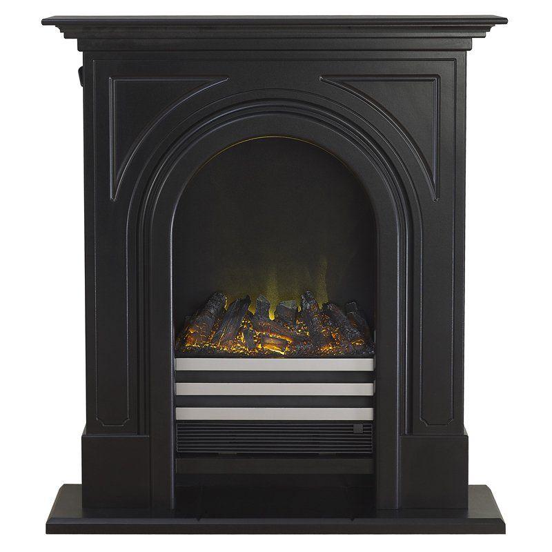Adam Durham Electric Fireplace Suite Black Cast Effect