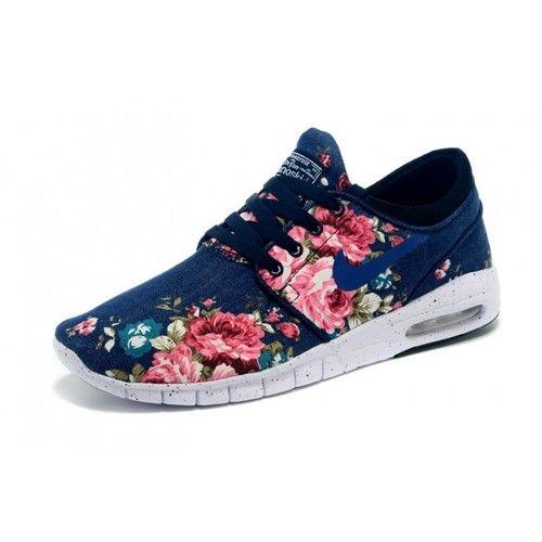 80b4d070e8f9 Nike Stefan Janoski Max Floral Blue Unisex | shoes | Shoes, Black ...