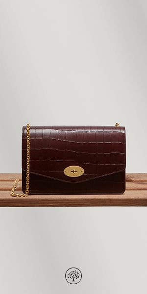 f916af16df Shop the Darley in Oxblood Croc Leather at Mulberry.com. A classic clutch