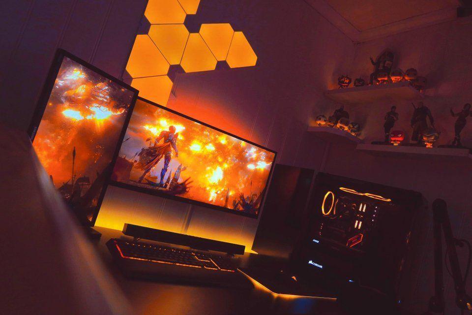 Orange Gaming Setup #gamingsetup