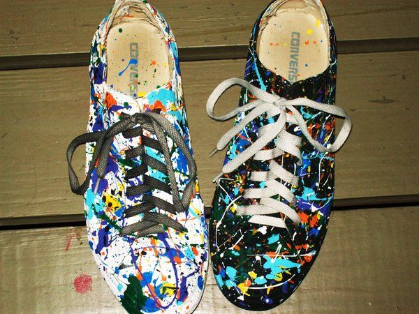 c65787503643a3 I had a pair of black flats that I splatter painted. I miss them. I might  need to make another pair.