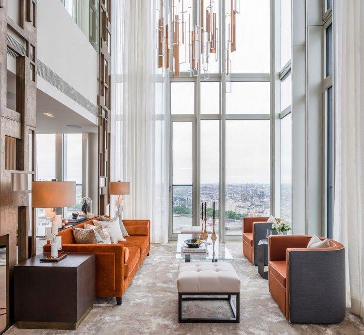 Luxury apartment decor by Goddard Littlefair is a majestic statement ...