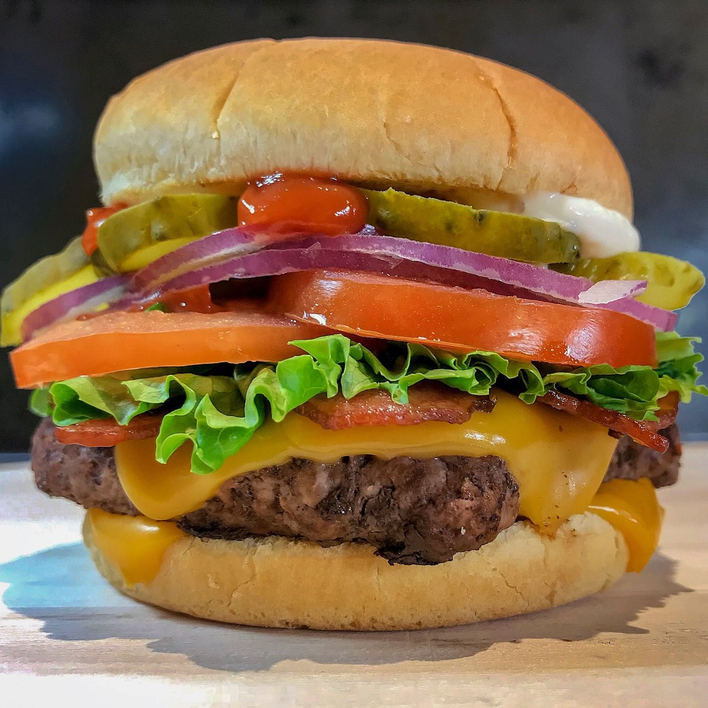 Wendy's single hamburger