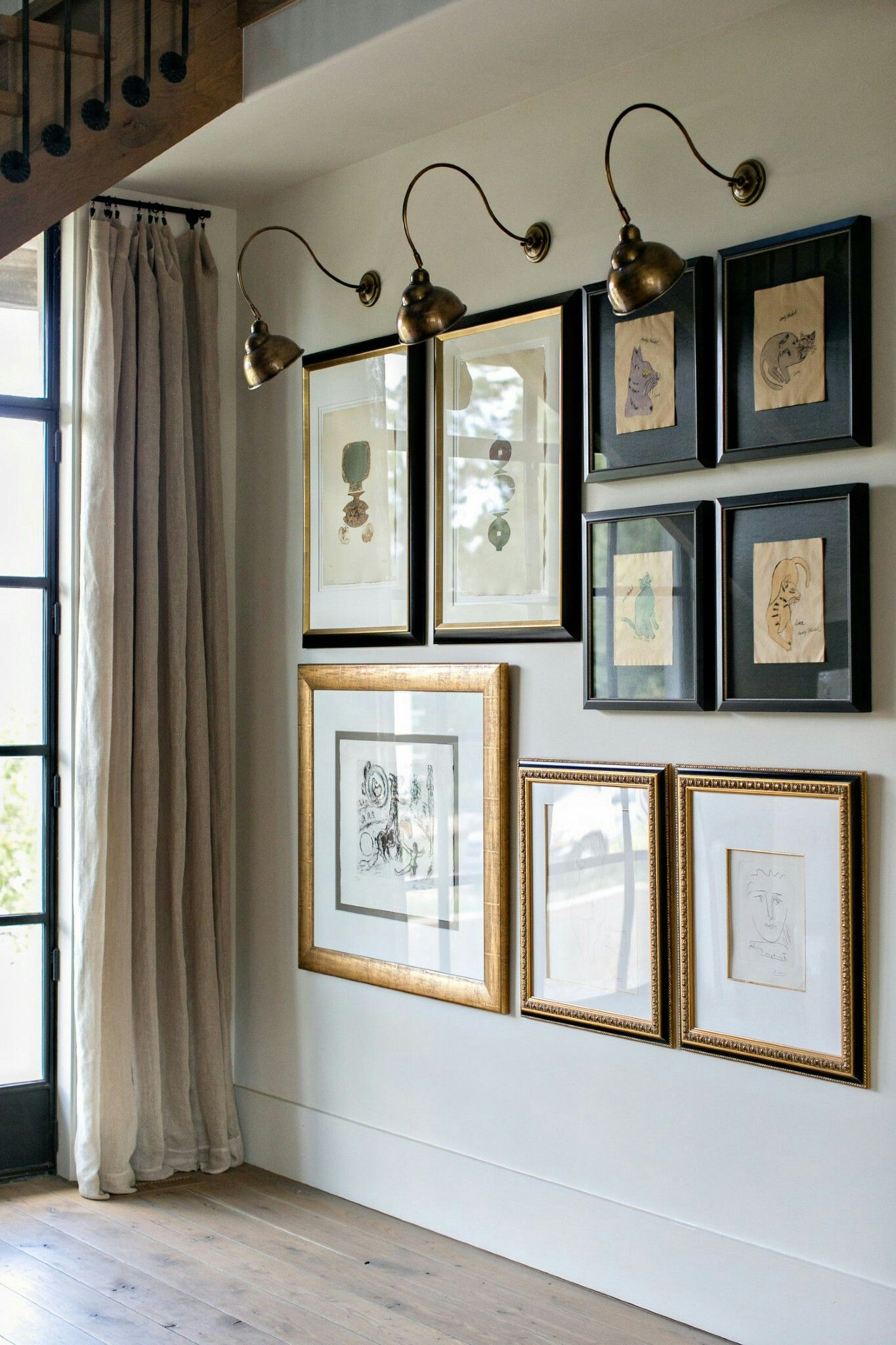 Nice Rustic Gallery Wall With Traditional And Modern Mix Black