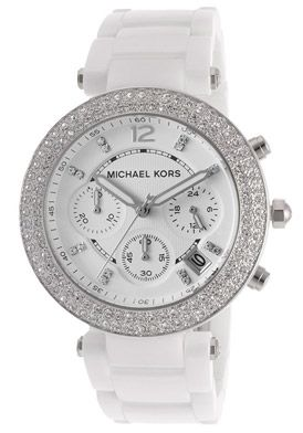 5c349cf40 Michael Kors Women's Chronograph White Dial White CeramicMichael Kors  MK5654 Watch