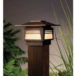 Kichler 15071oz Olde Bronze Zen Garden 12 Volt Landscape Deck Post Light 189 00 Lamps Com Outdoor Post Lights