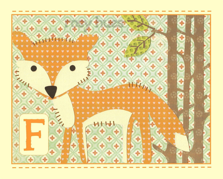 Cute fox art- Kids Art, Kids Wall Art, Nursery Art. $14.00, via Etsy ...