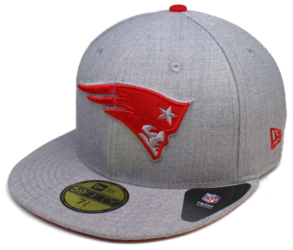 innovative design ef87b 44f4f  NFL New Era New England  Patriots 59fifty Heather Gray Fitted Hat Size 7-1 8  from  33.95