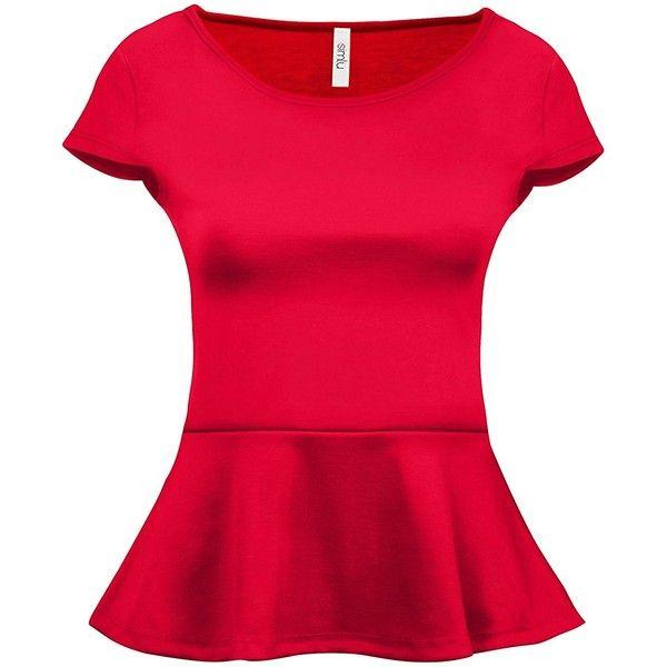 981e763ae8f Simlu short sleeve womens peplum shirt reg and plus size peplum top jpg  600x600 Red plus