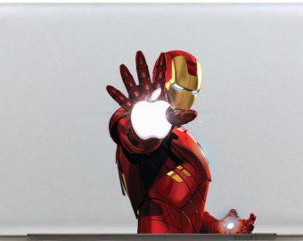 653bbefb7447 Iron Man Macbook Color Decals Mac Decal Macbook Stickers Laptop ...