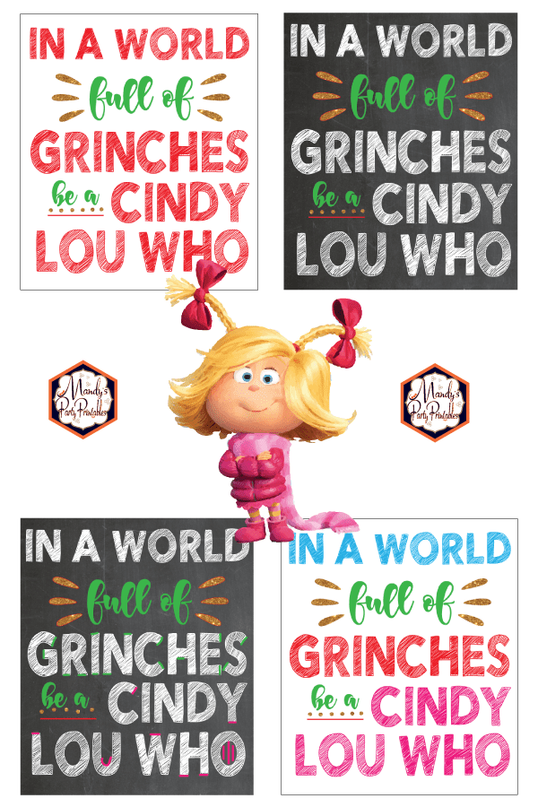 Grinch Quote Free Christmas Printable Sign Grinch