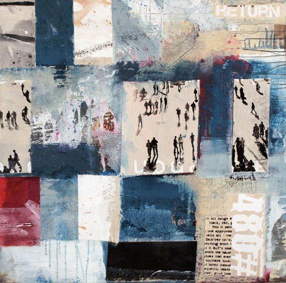 Ralk Bohnenkamp mixed media on canvas  100x100x4cm 2011 #photography #collage