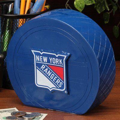 New York Rangers Puck Coin Bank New York Rangers New York