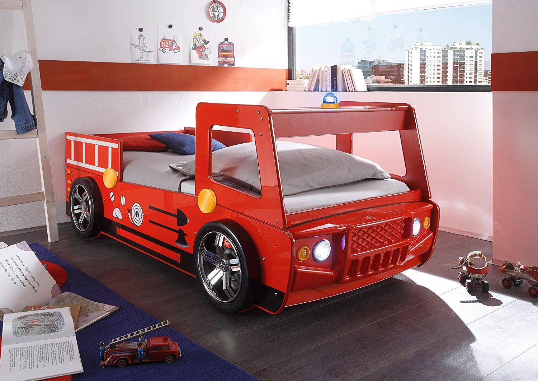 Tolles Kinderbett Im Feuerwehr Design Feuerwehrauto Bett Tolle
