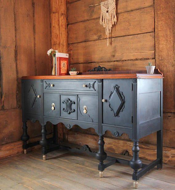 Buffet Antique Bleu Style Jacobin Meuble Restaure Furniture Decor Home Decor