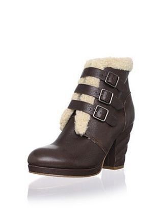 See by Chloé Women's Buckle Bootie (Legno)