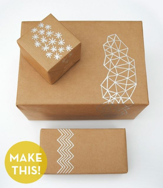 Gift Wrapping and packaging ideas Holidays Christmas Packaging Gifting Phoenix Photographer DIY with Chalk Pen