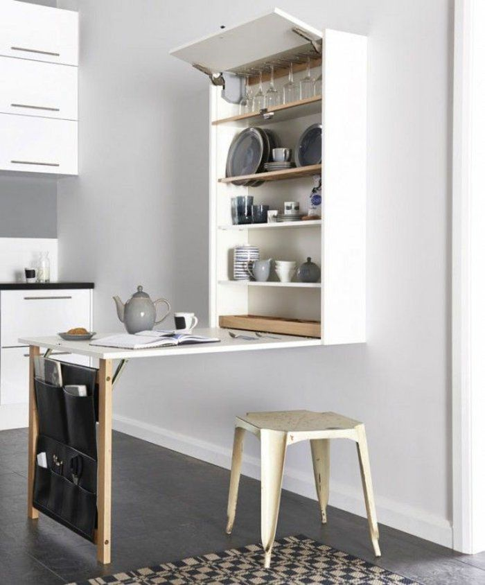 la table de cuisine pliante 50 ides pour sauver despace archzinefr tiny houses studio and small spaces