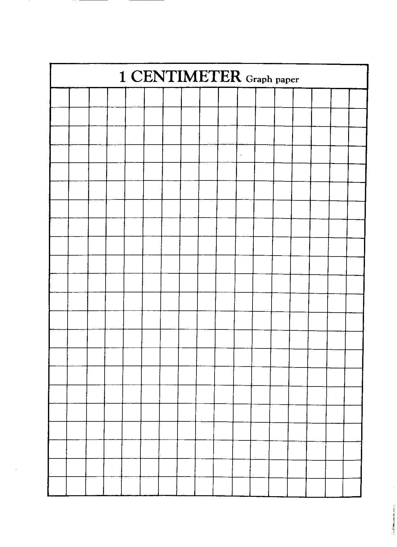 1 Centimeter Graph Paper 5th Grade