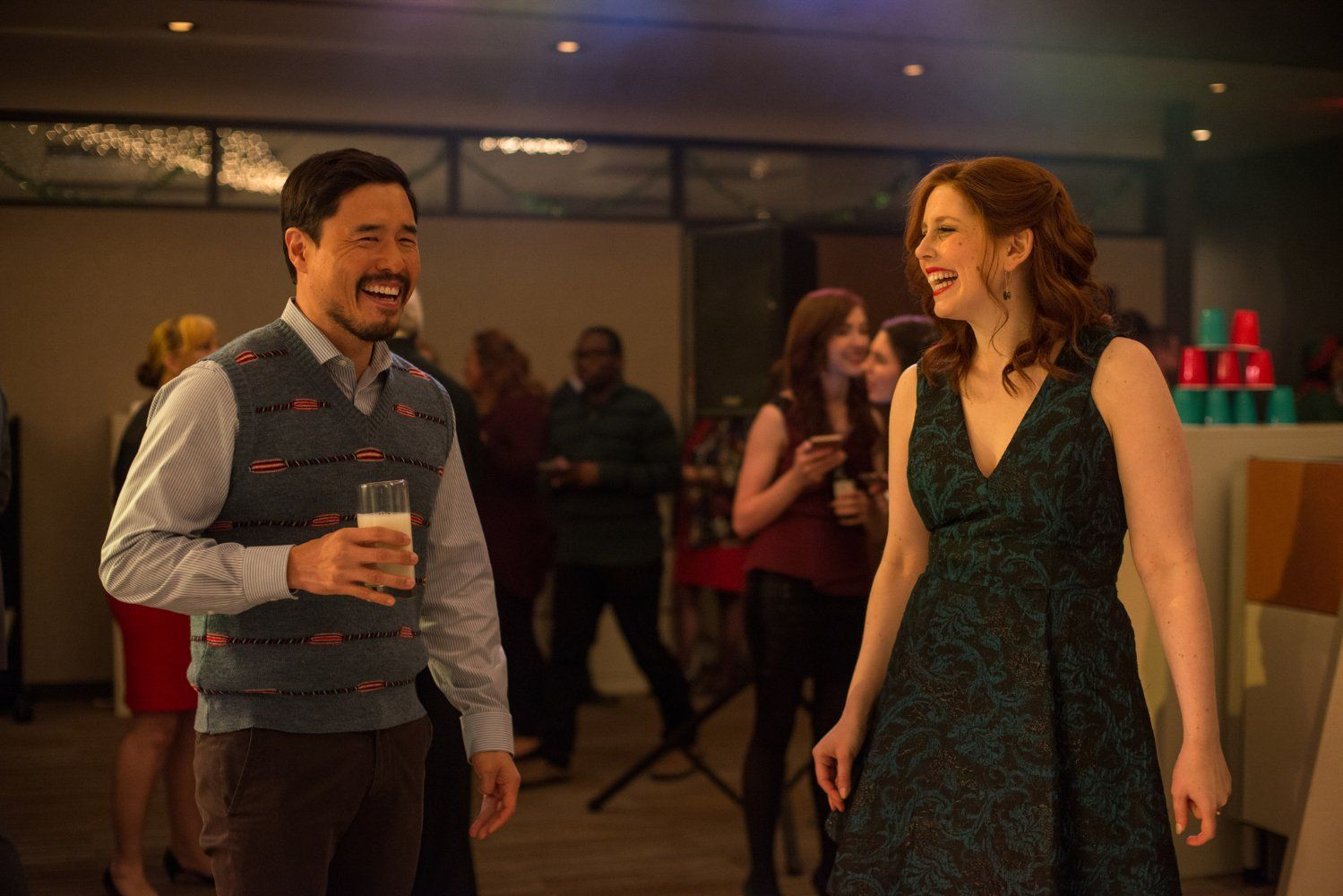 Randall Park and Vanessa Bayer in Office Christmas Party (26 ...