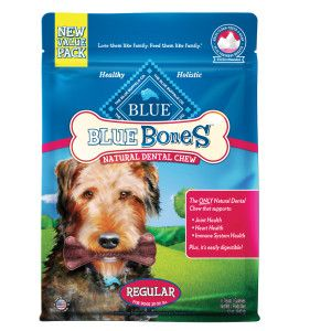 Blue Buffalo Dental Bones Regular Dog Treats Natural Dog