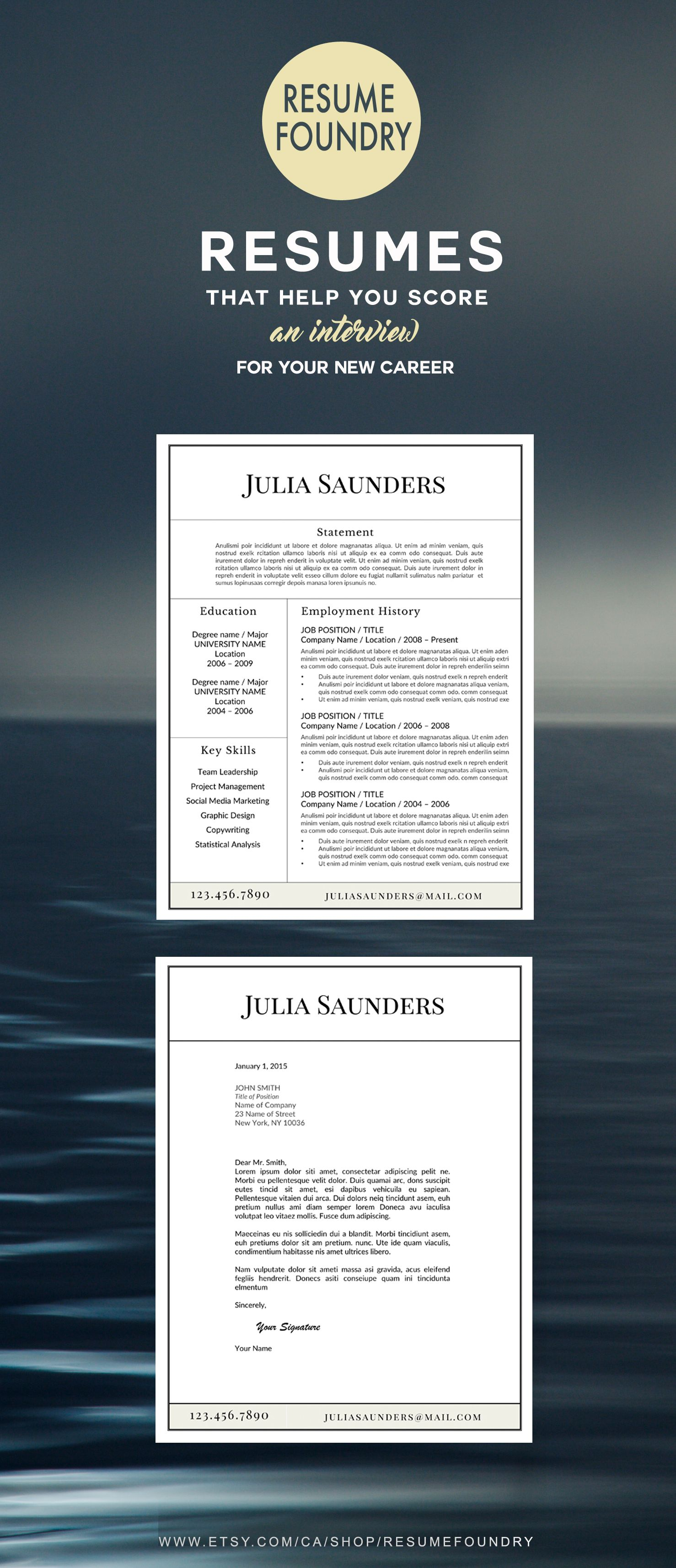 Simple yet stylish resume template ready for