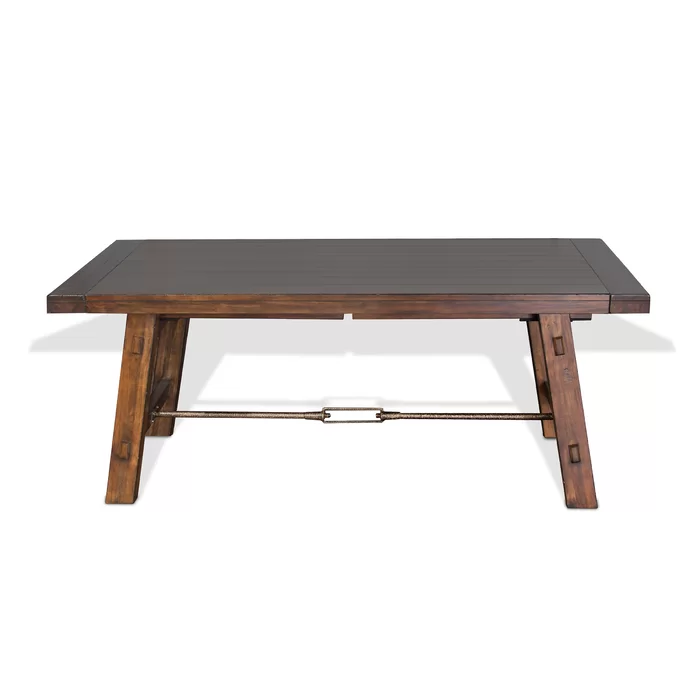 Hardin Extendable Solid Wood Dining Table Solid Wood Dining