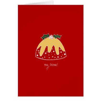 Christmas Pudding Christmas Card Card Xmascards Christmaseve Christmas Eve Christmas Merry Xmas Family Christmas Cards Christmas Pudding Holiday Design Card