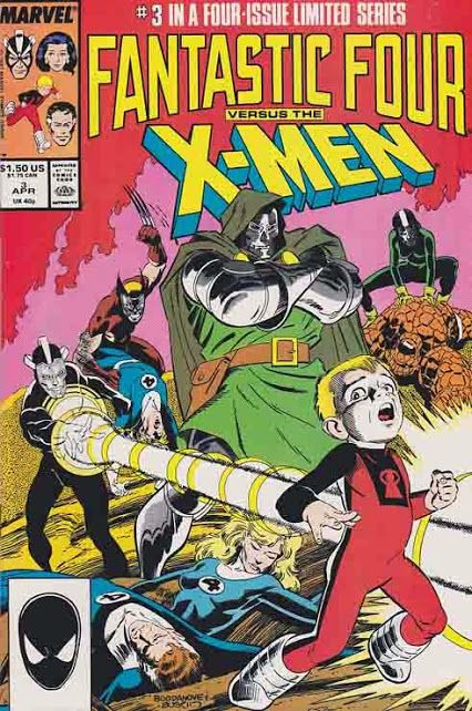 Fantastic Four Vs The X Men 3 Having Accepted Dr Doom S Offer To Heal Their Wounded Teammate Batman Comic Cover Batman Comic Books Batman Comic Book Cover
