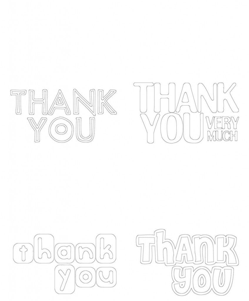 kids coloring-thank you cards -free printable | Pinterest | Kids ...