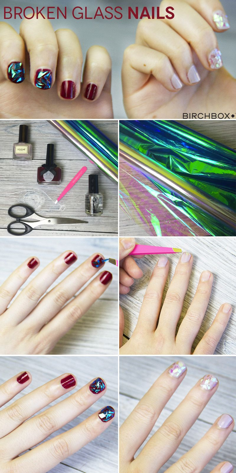 How to broken glass nails tutorial broken glass beauty trends broken glass nails are the soko beauty trend weve been desperate to try solutioingenieria Gallery