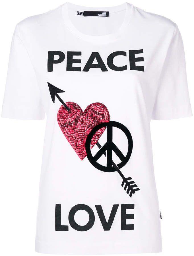 Love Moschino Peace Love T Shirt Love T Shirt Shirt Price Shirts