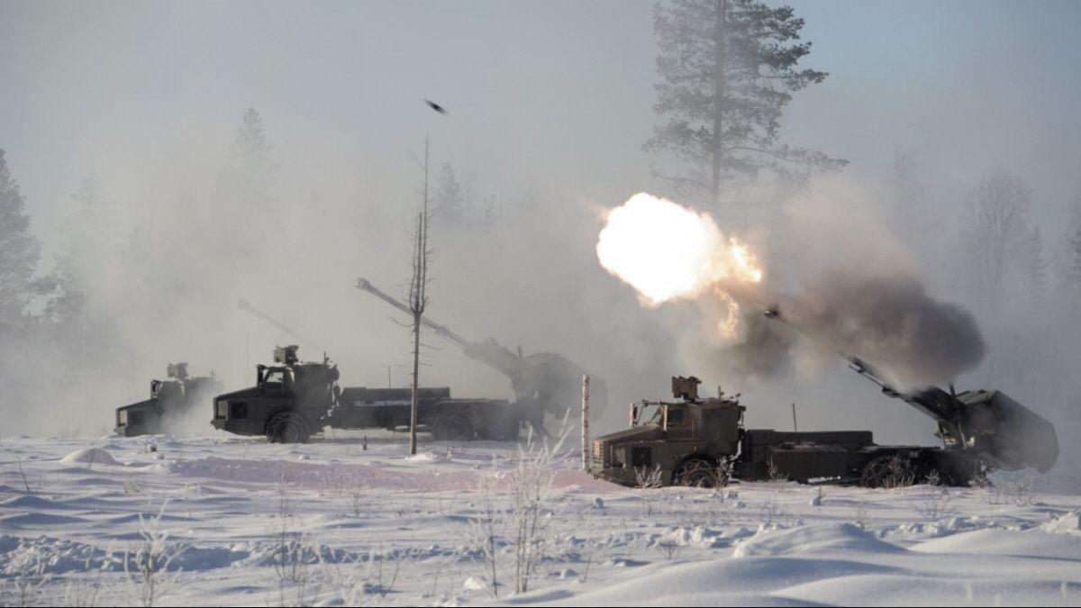 Swedish Army Archer Artillery System Firing [1200 675]
