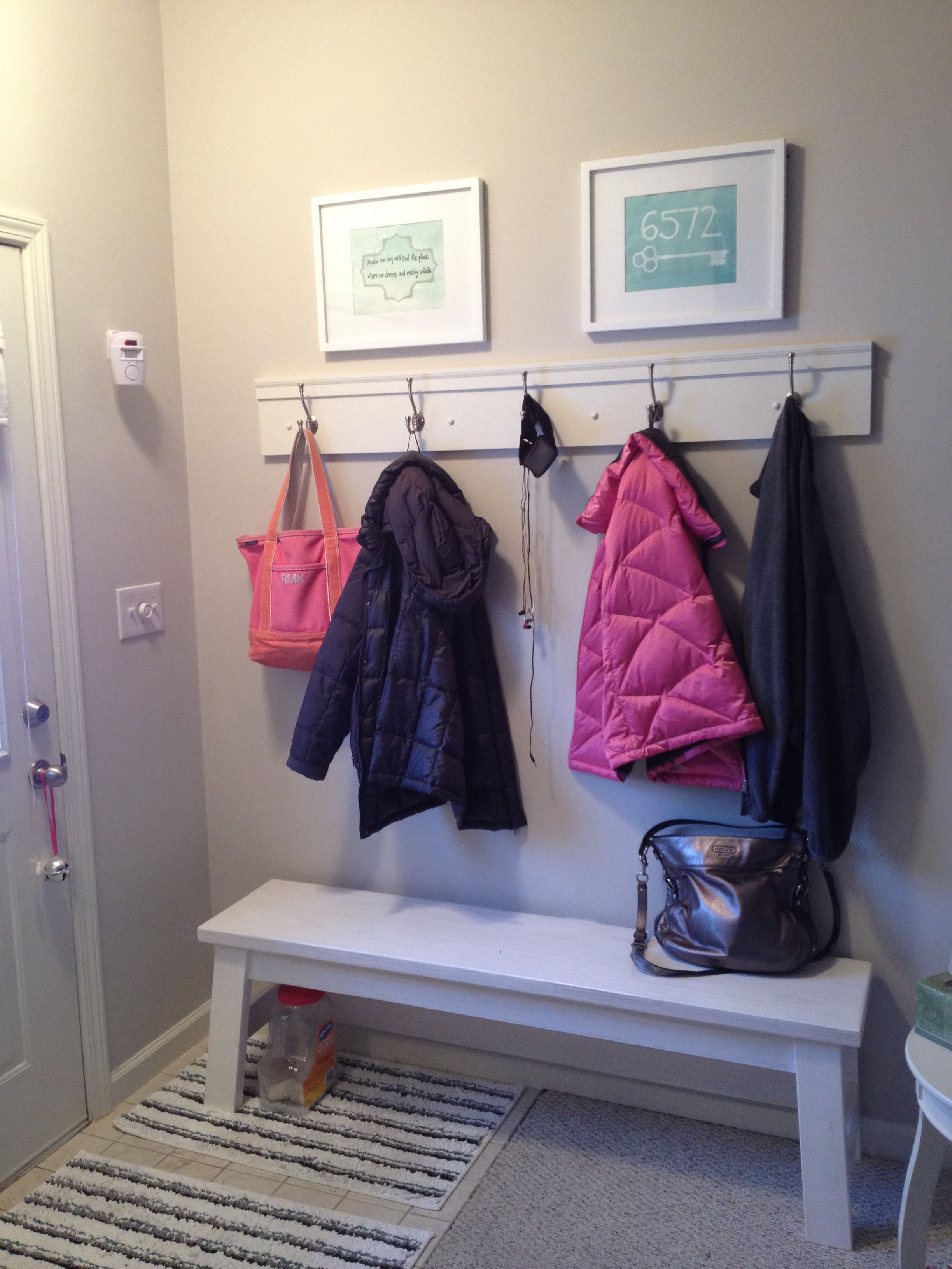 Entryway Hooks And Bench Entryway Hooks Hallway Storage Entrance Ideas Entryway