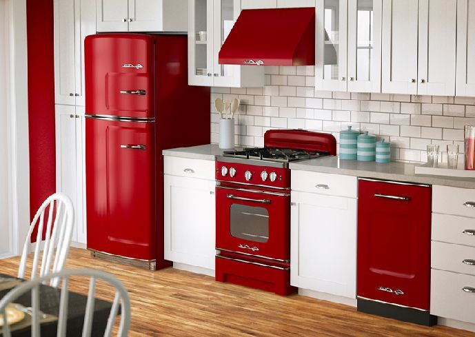 red appliances for kitchen inspiration picture from Kitchen ...