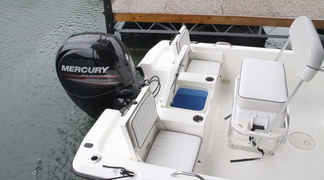Padded Swinging Backrest Center Console Boats