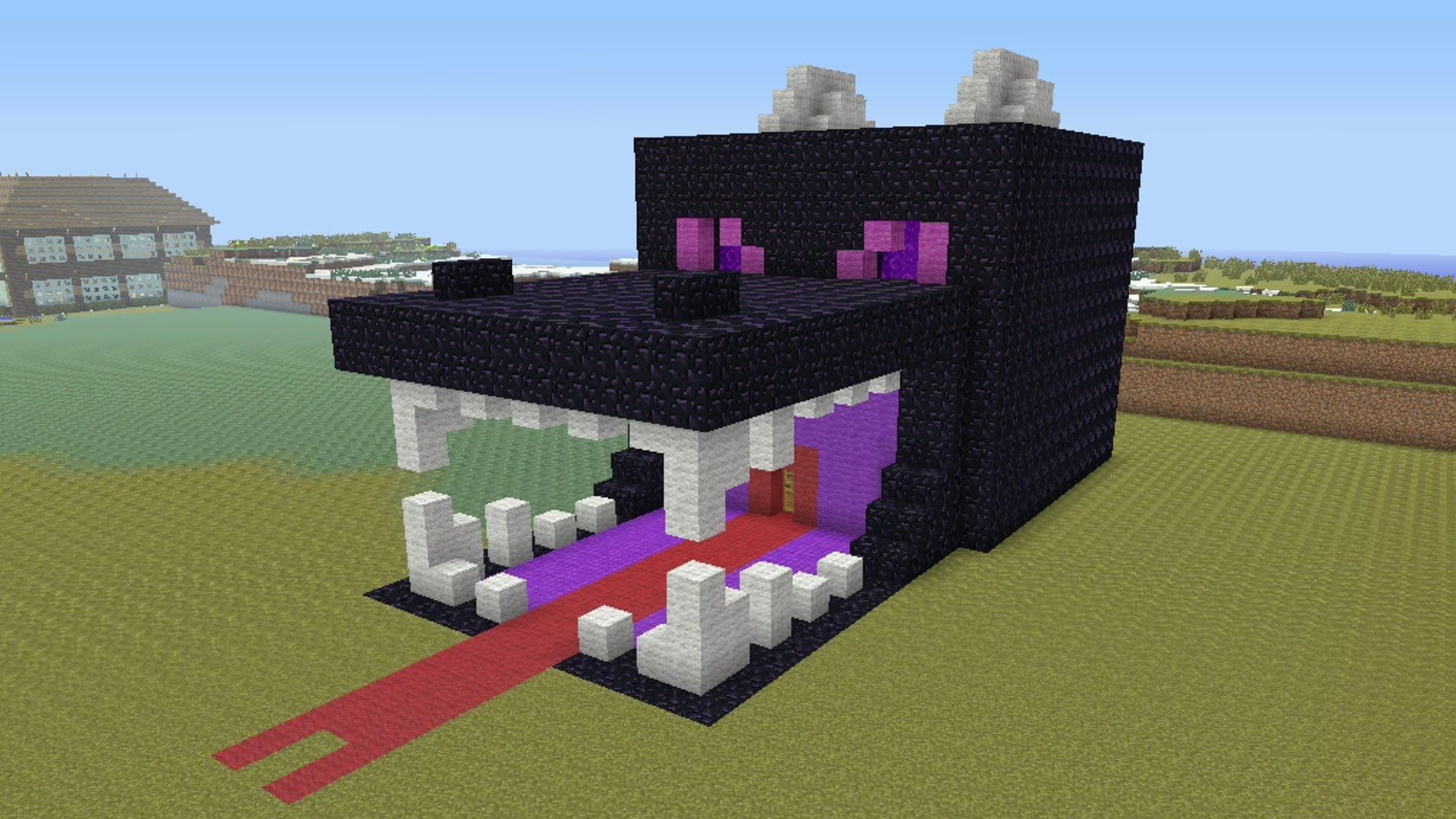 Minecraft Awesome Ender Dragon Survival House 24 Youtube_awesome