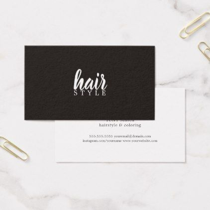 Simple elegant black white hair stylist business card reheart Image collections