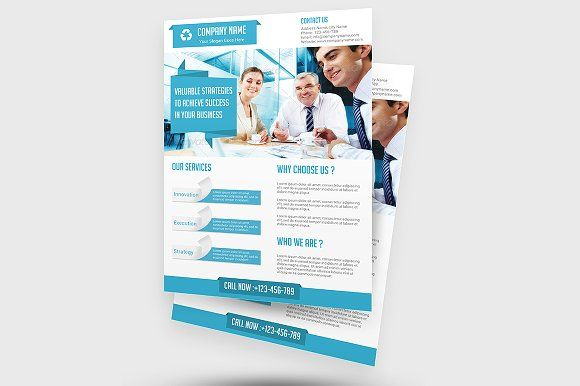 Business Solution Flyer Template  By Creative Designer On