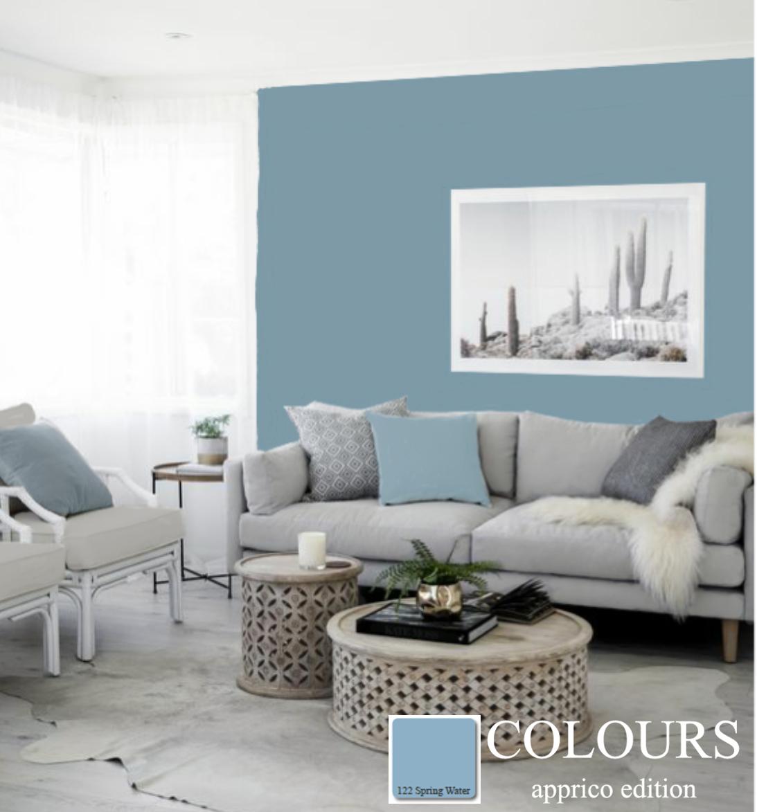 Wohnzimmer In Den Elementen Erde Und Wasser Appricocolours Farbgestaltung Farbkonzepte Premiumfarbkarte Interio Wohnzimmermobel Raumgestaltung Feng Shui