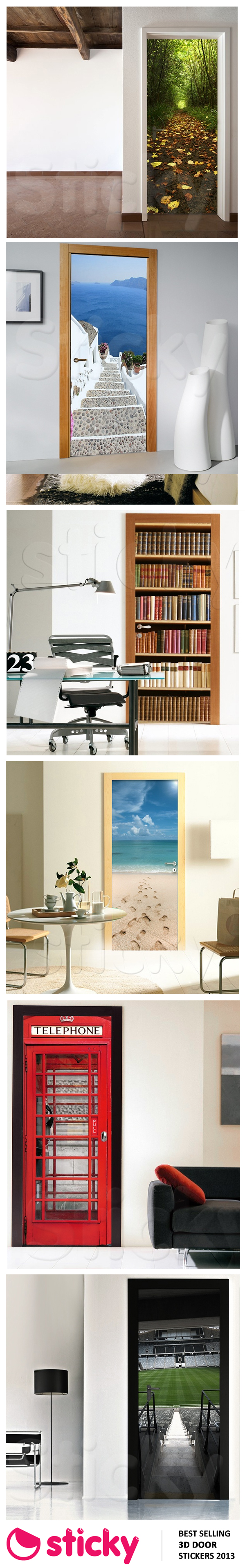 STICKY - Our most popular 3D DOOR stickers for 2013 based on sales!
