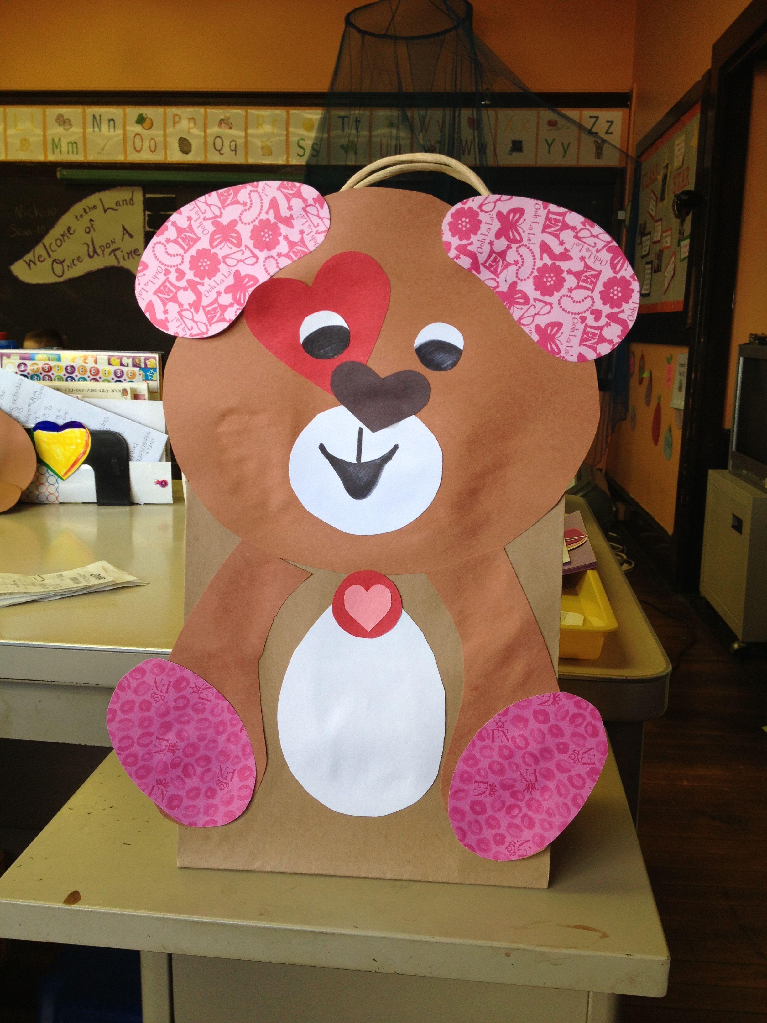 Valentine Puppy Bags For Preschool