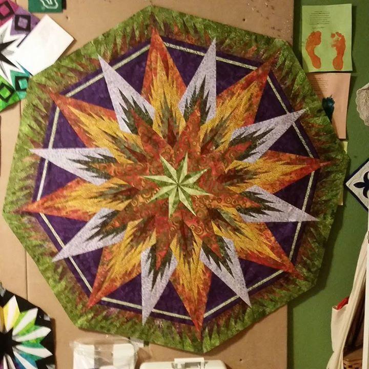 Feathered Snowflake Tree Skirt ~Quiltworx.com, made by CI Flo Bradbury